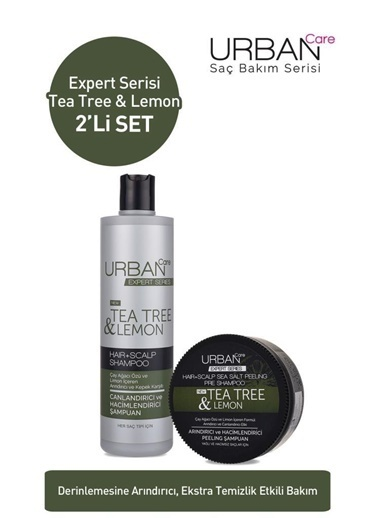 Urban Care Urban Care Tea Tree Lemon Şampuan 350 Ml+Peeling Şampuan 200 Ml Renksiz
